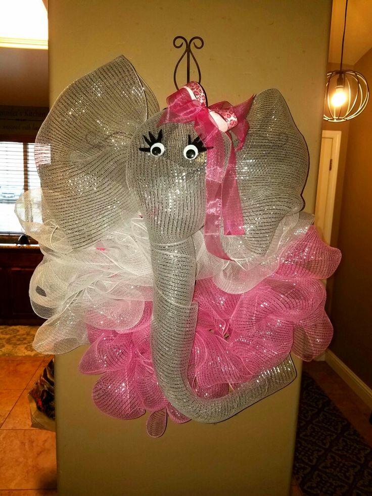 Mesh Elephant Wreath! Celebration & Welcome Wreath!