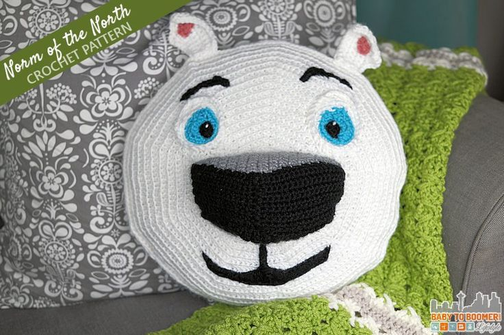 Meet Norm of the North and Free Crochet Pattern - this animated polar bear has to save his home! Family-friendly movie and craft