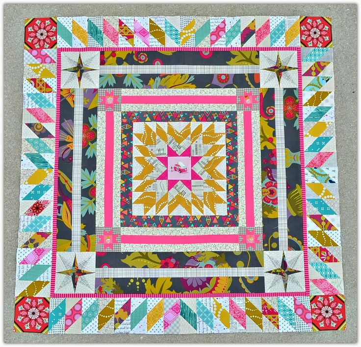 travelling medallion quilt by sewing sisters uphome