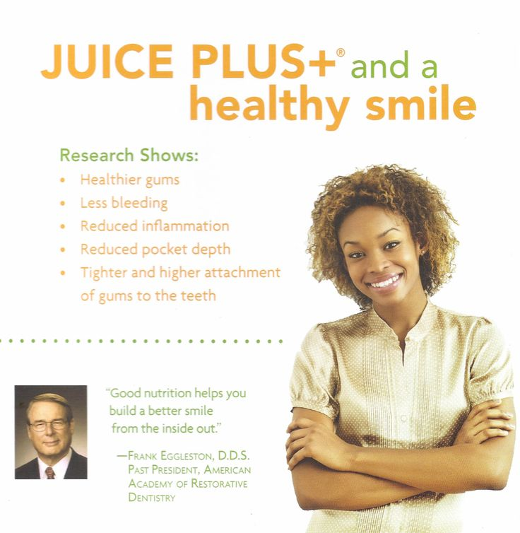 Healthy Eating also Promotes a Healthy Smile. It has been