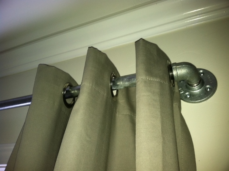 Galvanized Pipe Curtain Rod Great Idea Window Treatments Pinterest Boy Rooms