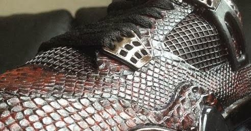 "Here is a detailed look at a pair of custom Air Jordan IV 4 ""Eiffel Tower"" Snake Skin Sneakers designed by Revisited, these are amazing! P..."