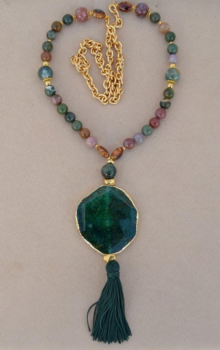 Las 25 mejores ideas sobre collares de piedras naturales for Como hacer color piedra