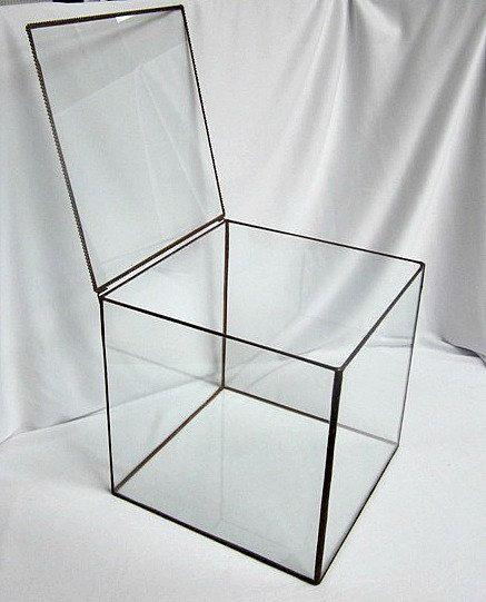 Large Display Box Glass Box Souvenir Box by ClearlyElegantBrides