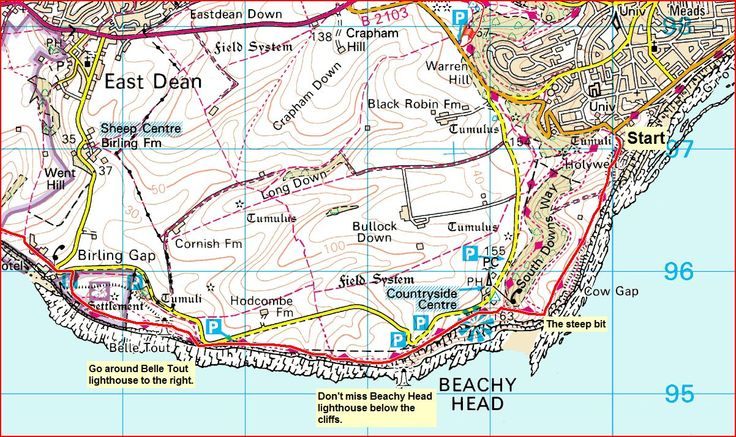 sussex map seven sisters