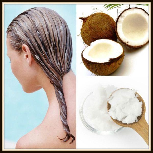 Tratamiento para el cabello con aceite de coco