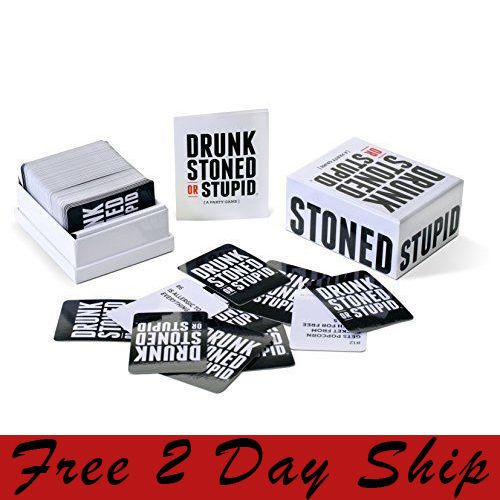 DRUNK STONED OR STUPID Board Card Game Family Fun Party Night Favorite Brand New #DRUNKSTONEDORSTUPID