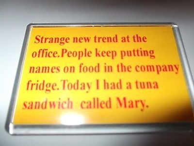 Tuna #sandwich called mary joke / novelty #fridge #magnet,  View more on the LINK: 	http://www.zeppy.io/product/gb/2/162127938957/