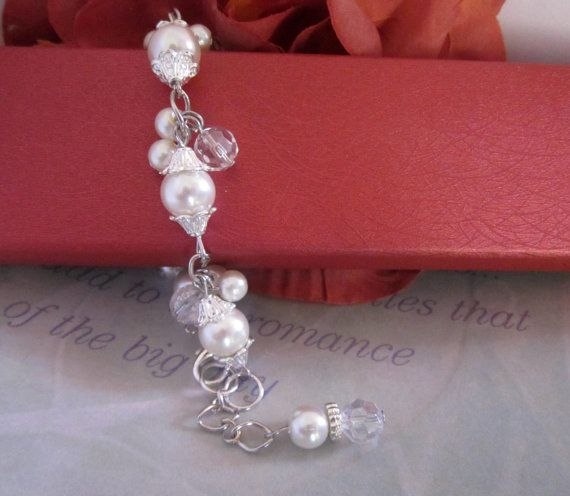Wedding Jewelry  Cluster Pearl Bridal Bracelet by SLDesignsHBJ, $16.00