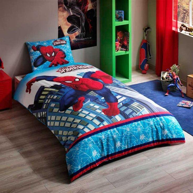 Spiderman Ultimate Twin / Single Size %100 Cotton Duvet Cover Set Bedding Linens