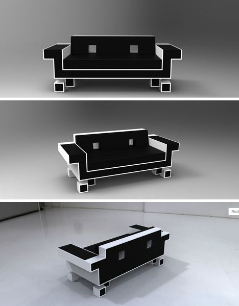 Geek Furniture: Space Invader couch *_*