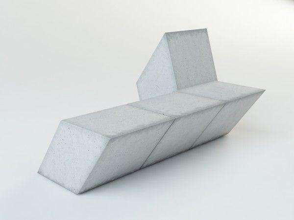 maya concrete bench - Concrete bench... by TheEdge