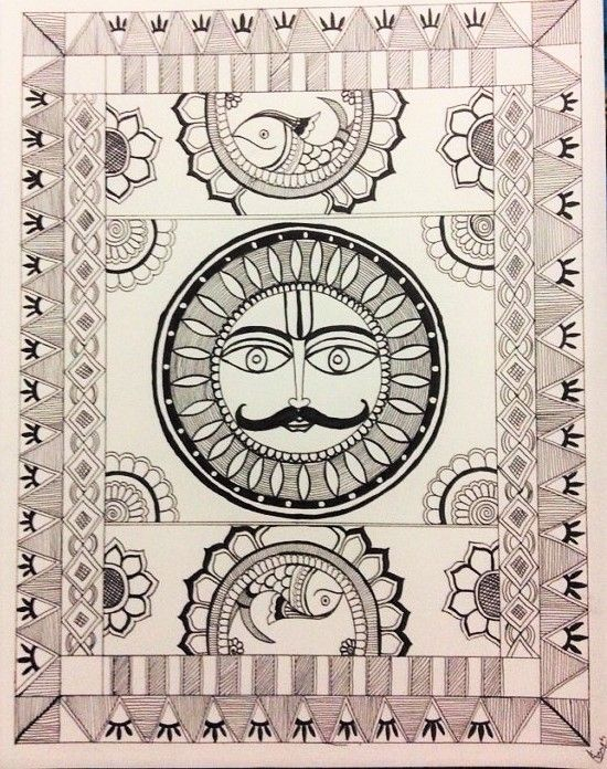 Madhubani painting - Aalekh