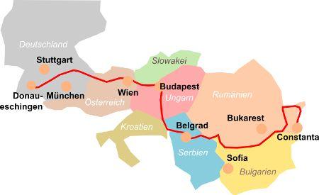 Donau-Radweg Karte