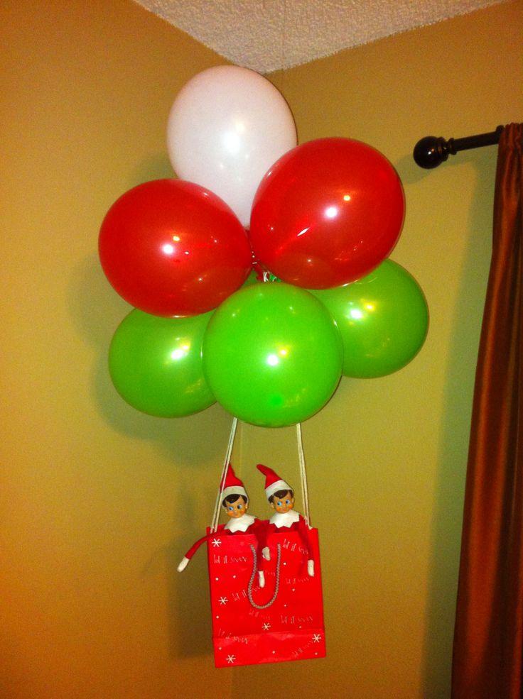 Elf On The Shelf Hot Air Balloon Christmas