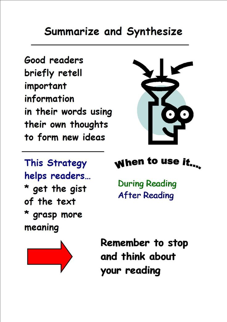 reading summary Obviously, you cannot write a good summary of a source that you do not understand there are reading strategies that will help you comprehend a source text as fully.