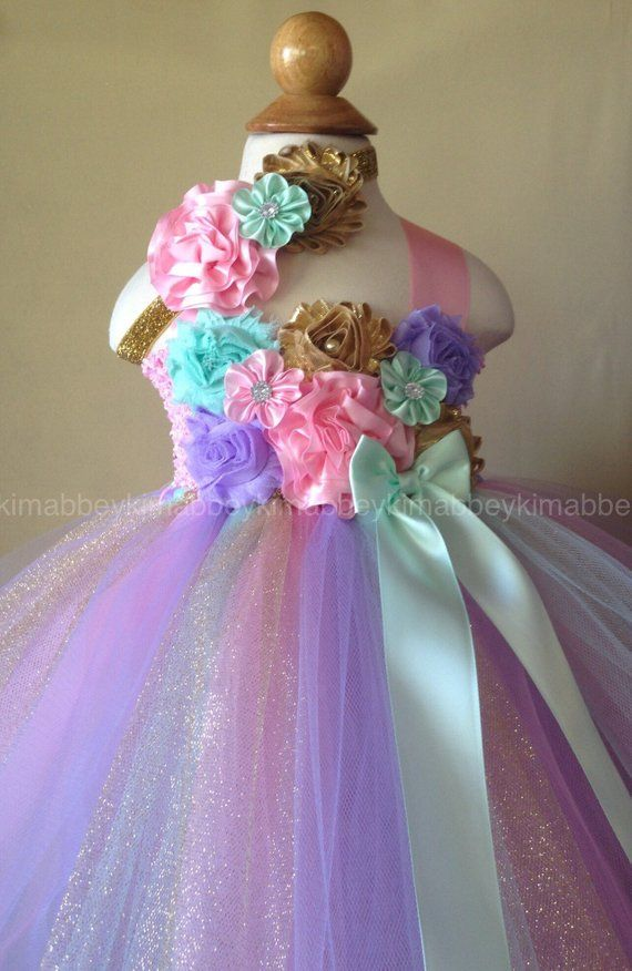 227e797192a65 Beautiful baby girl first birthday tutu dress dress in pink,mint, lavender  and gold for baby girls