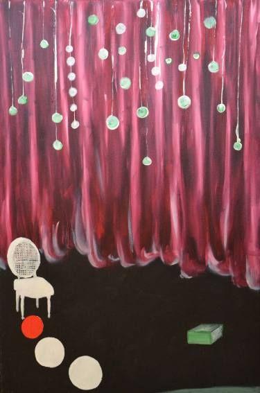"""Saatchi Art Artist Nicole Theresia Spitzwieser; Painting, """"live is a stage/ das Leben ist eine Theaterbühne"""" #art"""
