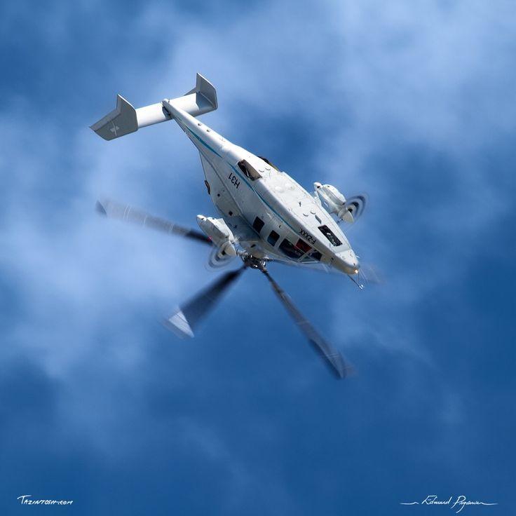 Eurocopter X3: http://tazintosh.com #FocusedOn #Photo #Canon EF 100-400mm f/4.5-5.6L IS USM #Canon EOS 7D #Ciel #Sky #Eurocopter X3 #Fuselage #Moteur #Engine #Nuage #Cloud #Pale #Fan blade #Salon aéronautique du Bourget 2011 #Bourget Airshow 2011