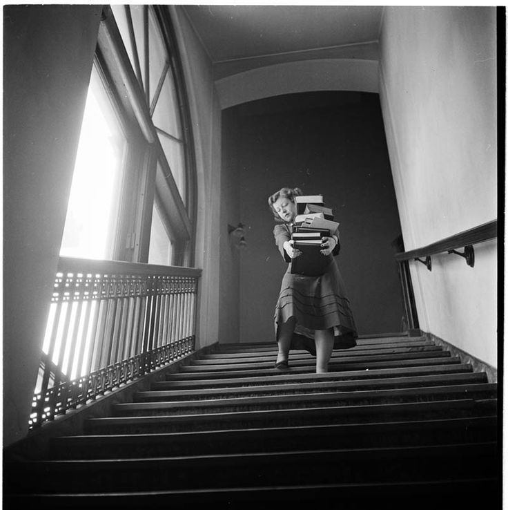 Student at Columbia University, 1948. Photograph by Stanley Kubrick for Look Magazine via VandM.com | Prints Available