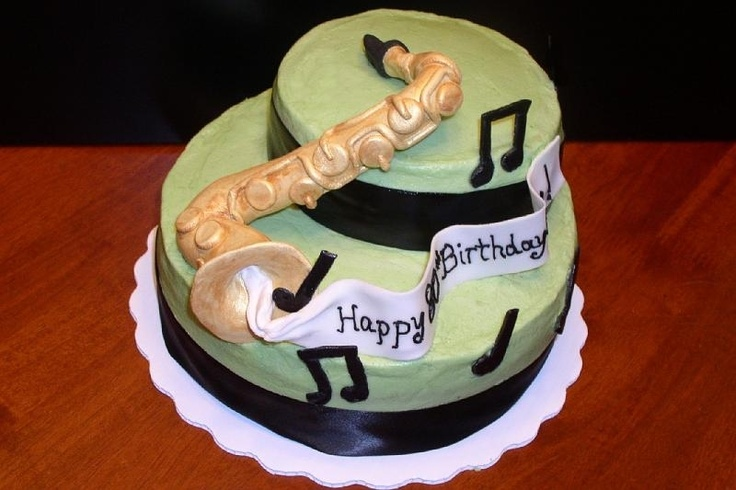 26 best saxophone cakes images on Pinterest | Music cakes ...