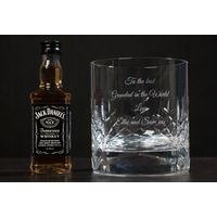 Engraved Crystal Tumbler and Jack Daniels Gift Set - Jack Daniels Gifts