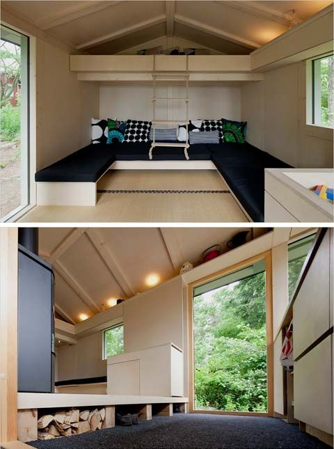 Small Cabins And Cottages | Modern Cabins, Small Houses | A Small Cabin in Helsinki: City Cottage ...