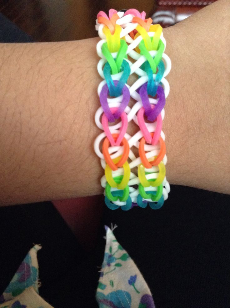 how to make the new infinity rainbow loom bracelet