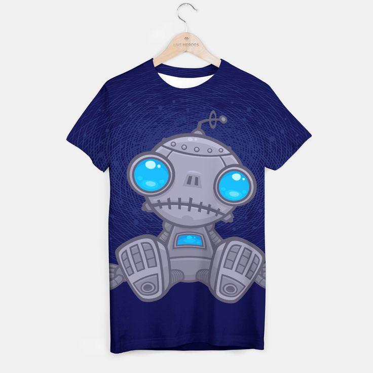Sad Robot T-shirt, Live Heroes