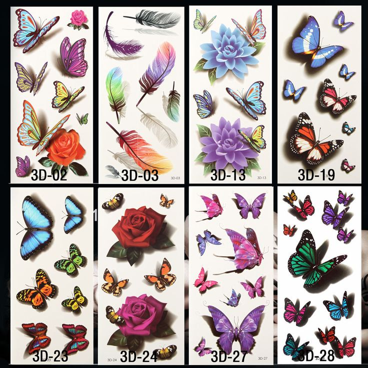 10pcs 3D Temporary Tattoos Flowers Rose Waterproof Body Art DIY Stickers Hot-stamping Sex Products Halloween Inspired 190*90MM