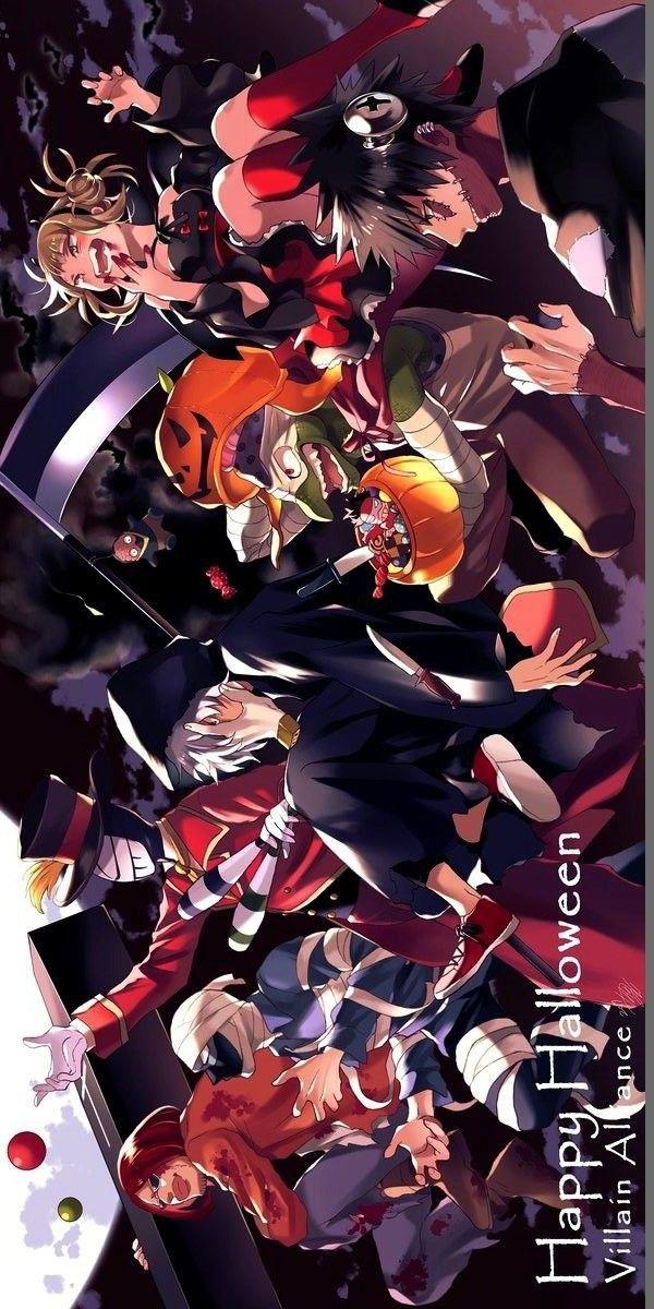 My Hero Academia Happy Halloween Villain Alliance The League Of Villains Tomura Shigaraki Anime Hero Anime Lovers