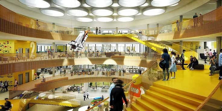 New office campus for the LEGO Group in Billund, Denmark, by C.F. Møller Architects and C.F. Møller Landscape