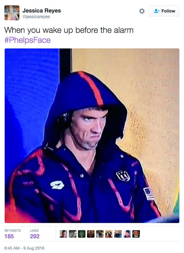 16 Michael Phelps #PhelpsFace memes worthy of a gold medal: Alarm, where art…