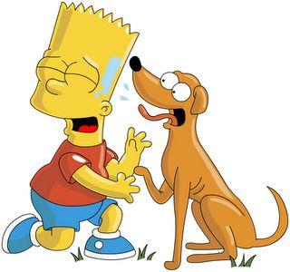 El perro de Bart Simpson ~ Mundo Feliz