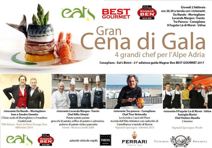 #BestGourmet2017. La migliore cucina e i migliori vini dell'#AlpeAdria si danno appuntamento questa sera a Conegliano. Read on...http://bit.ly/2jZ4yFK