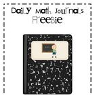 FREEBIE!  Daily Math Journals are a great way to reinforce math concepts in a creative way.This download includes math journal labels, instructions for s...