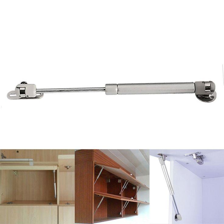 Putih Pintu Lift Pneumatic Dukungan Hydraulic Gas Spring Tetap untuk Lemari Dapur Pintu Otomatis Operator 100N/10 kg