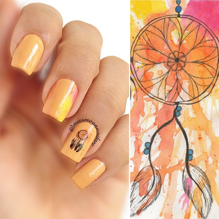 What were you dreaming about last night? #dreamcatcher #nailart #nailartdesign #dreamynails #dreamcatchernails #catchingdreams #dreamingofsummer #warmcolours #sundaymood #readyfornewweek #releaseyourdreams #allaboutnailsofficial #missmoonnailart #nails2inspire #simplynotlogical #hm