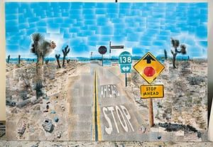David Hockney book: Pearblossom Highway 11-18th April 1986 (Second Version)