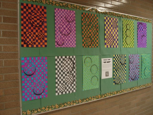 a faithful attempt: Op Art: 3-D Spheres  This would be a good plan for Mr. Holmquist's class as they did the art op name at the beginning of the year (similar to the hand the other 5th grades will do)