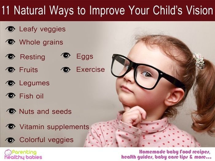 11 Natural Ways To Improve Your Child S Vision Eye Sight Improvement Baby Care Tips Baby Health