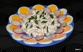 Hozzávalók: 2 doboz konzerv csemegekukorica 1 fej lilahagyma 1-2 szál zöldhagyma 1 kis pohár tejföl pár kanál majonéz só, őrölt bors ...