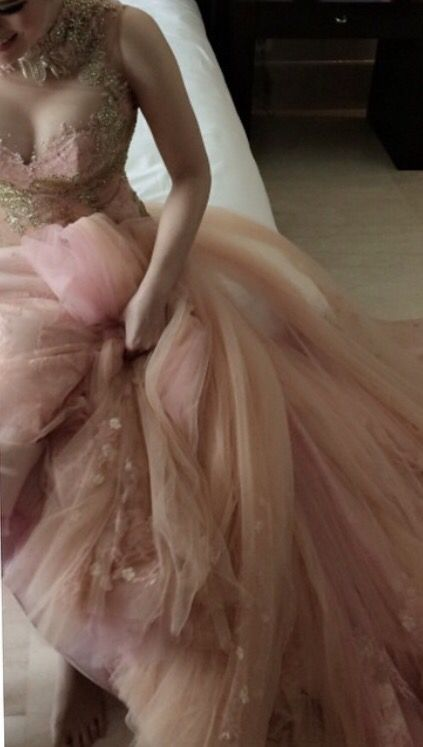 #coral#rose gold#engagement dress#tulle #begorgeous signature