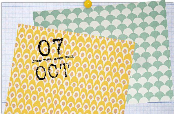 Mis labores - AD España, © D.R. Circus y Big Waves son los nombres de estas dos coloridas telas dispuestas a servirte en todos los proyectos que te pongas por delante. Pertréchate de aguja, hilo y buena maña y pásate por la web de Littlephant.