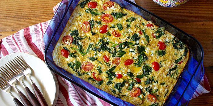 Egg, Spinach and Quinoa Breakfast Casserole