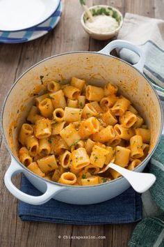 Ricetta pasta e zucca - Chiarapassion