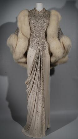 Vintage Dior.. Oh my! I'd wear this anywhere to make myself feel fabulous