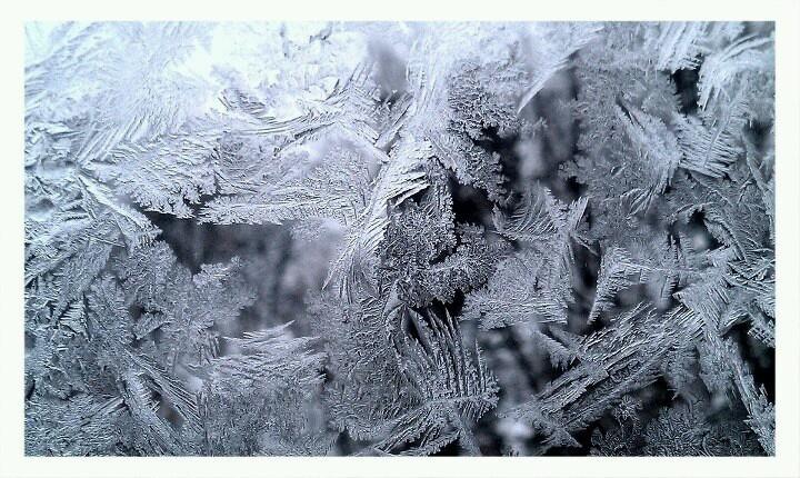 Frosty window @ Grey Wolf Lodge, MN