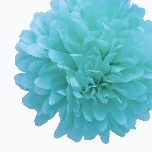 18 aqua y turquesa papel Pom Poms papel por HeathersBlankets