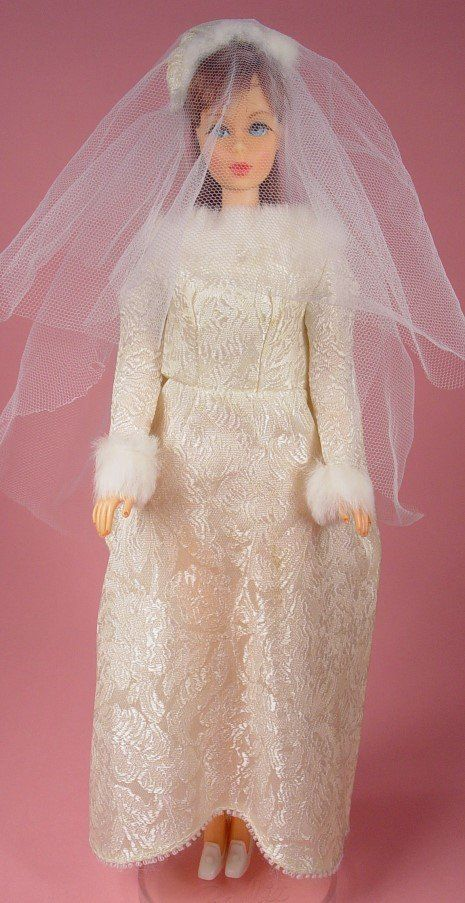 My Barbie's wedding dress!!!!  And I still love it! >> we were jealous of that fur lined dress - looked better on Julia